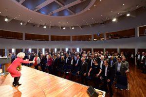 eva loschky und publikum beim Freiburger Mittelstandskongress