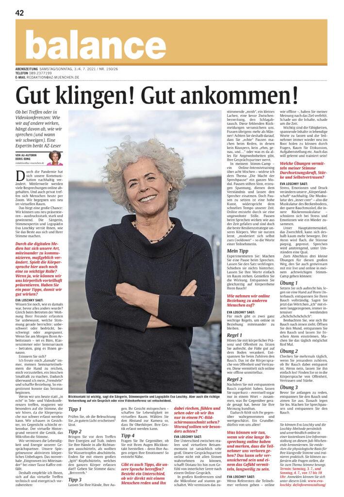 Stimmexpertin in der AZ München